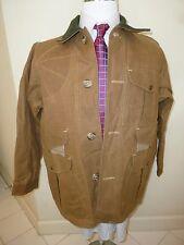 MINT! Filson 62 Tin Cloth Hunting Jacket, M/Sz 40 TAN Cotton/Wool USA Oil Finish