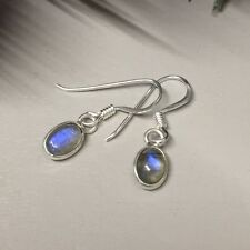 Hook Labradorite Oval Fine Gemstone Earrings