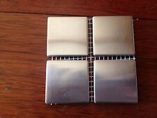 """2"""" x 2"""" Stainless Steel Brushed Metal Tile - Sample size:4 tiles"""