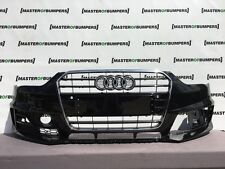 AUDI A4 S LINE COMPETITION 2012-2016 FRONT BUMPER IN BLACK GENUINE [A472]