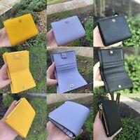 NWT Tory Burch Emerson Saffiano Leather Mini Wallet Imperial Multi