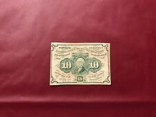 1862 10 CENT POSTAL CURRENCY  FIRST ISSUE  Fractional Currency