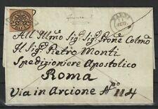 Kirchenstaat Nr. 4 auf altem Brief von Narni nach Rom, 1852
