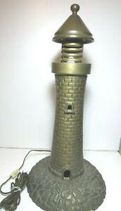 Vintage Maritime Brass Lighthouse Art Deco 1920's Cast Bronze Heavy Electric