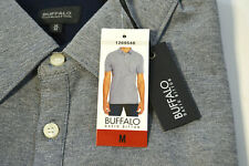 Buffalo David Bitton Men's Short Sleeve Polo Gray Size Large