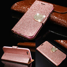 Magnetic Bling Glitter Leather Flip Case Wallet Cover For Sony Xperia Z3 Xa Xz