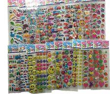 5pcs Fashion Brand Kids Toys Cartoon 3D Stickers Children Girls Boys Stickers