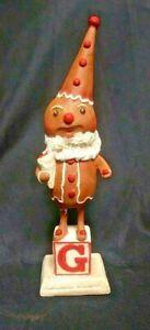 "Gingerbread Man Hop Hop Jingle Boo Bethany Lowe Designs  Christmas G 12"" label"