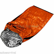 4 Pack Thermal Escape Solar Bivvy Sleeping Bag Mylar Emergency Survival Blanket