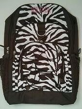 Pottery Barn PB Teen Brown White Zebra Gear Up Large Backpack name MIRANDA New