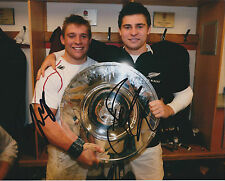 Ben & Tom YOUNGS Double Signed Autograph 10x8 Photo AFTAL COA RUGBY England