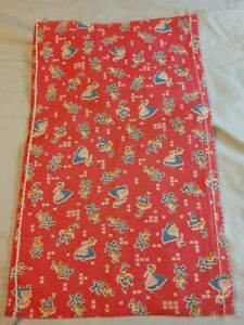 Vintage Full Pink Feedsack Sugar Sack Novelty Print GC