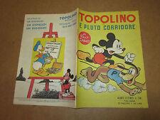 WALT DISNEY ALBO D'ORO N°38 TOPOLINO E PLUTO CORRIDORE 15-06-1951 1°RISTAMPA