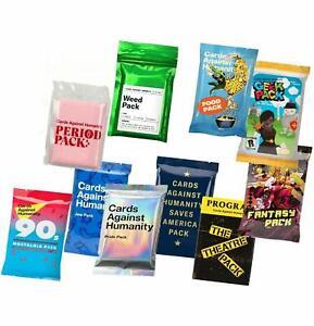 Cards Against Humanity 10 Packs Weed & Period & Pride & Food & Jew & Saves Ameri