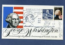 Washington Birthday Celebration Goldberg Hand Painted Cachets First Day Cover