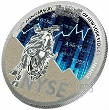 2017 1 Oz Silver NEW YORK STOCK EXCHANGE NYSE 200th Anniv Coin 1000 Fr Cameroon.