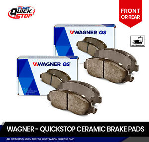 FRONT+REAR Ceramic Brake Pads 2 Set For Ford Excursion, F-250, F-350 Super Duty