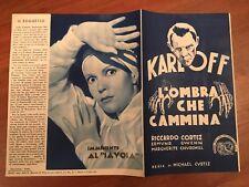 BROCHURE,1936,L'OMBRA CHE CAMMINA The Walking Dead,BORIS KARLOFF CURTIZ,HORROR