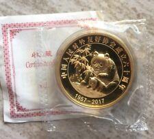 66pc! 2017 China Foreign Frienship ambassador silver panda 60gram medal Gilt