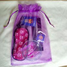 Barcelona Football Gift Set - Pen, Soft Glasses Case & Key Cap - Ideal Gift