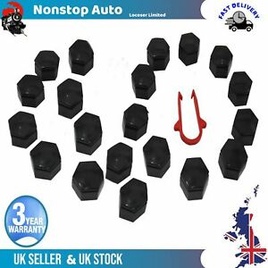 20X Wheel Nut Screw Cover 22mm 1X Remover Tool Fits Land Rover Range Rover Sport