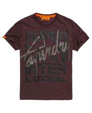 New Mens Superdry Interlocked International T-shirt Port Marl