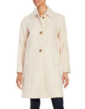 Womens wool coat GALLERY Textured Button-Front Jacket Medium Natural NEWitag$280
