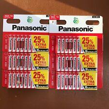 60 x AAA Genuine PANASONIC Zinc Carbon Batteries LR03 1.5V MN2400 Longest Expiry