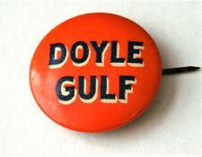 1940s Doyle Gulf Oil & Gas NOS New Logo Button Pin