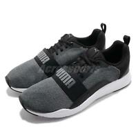 Puma Wired Knit Black Grey White Men Running Casual Shoes Sneakers 366971-01