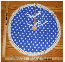 "USA FLAG STARS Americana Handmade Mini Tree Skirt, 21"" dia, patriotic,July 4th"