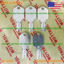 166 Forklift Ignition Key fits Clark Yale Hyster Komatsu Gradall Gehl Crown 5 PC