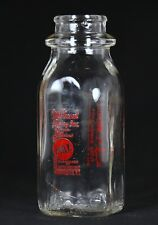 Vintage Mt. Pleasant Dairy Company Glass Milk Bottle Half Pint Providence RI
