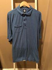 FootJoy Golf Mens Chest Pocket Self Collar Polo sz XXL Blue