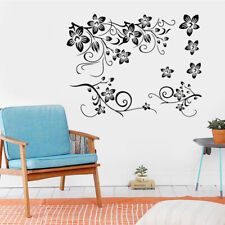Creative Design Flowers Wall Decal Delicate Flower Decal Removable PVC Sticker