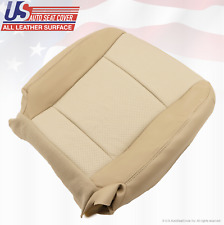 2007 Mercury Mountaineer DRIVER Bottom Replacement LEATHER Seat Cover 2-Tone Tan