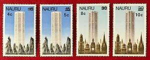 NAURU Sc#161-164 1978 Complete Set Building Surcharged Mint NH OG VF/XF (13-149)