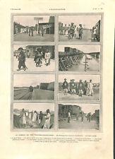 Chemin de fer Transmandchourien est de Chine Pékin Sibérie Russie GRAVURE 1903