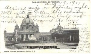 PRIVATE MAILING CARD PAN AMERICAN EXPOSITION 1901 BUFFALO NY GOVERNMENT BUILDING