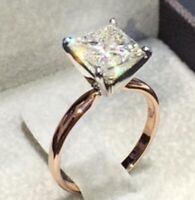 Fashion Silver White Zircon Ring Engagement Wedding Jewelry Rings For Women