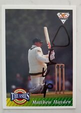 "MATTHEW HAYDEN CRICKET SIGNED IN PERSON FUTERA CARD ""BUY GENUINE"""