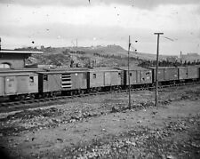 New 8x10 Civil War Photo: Box Cars at Depot in Chattanooga, Tennessee