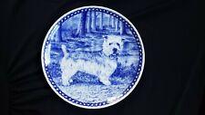 """New ListingGlen of Imaal Terrier Dog Plate Made in Denmark Levken European Porcelain 9"""""""