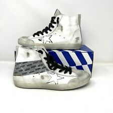 Golden Goose GGDB Francy Men's High Top Sneakers White Leather EUR 44