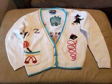 VTG Berek Sweater Cardigan Wizard Of Oz  RARE! Witch Tin-Man Lion Dorothy