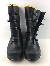 Men's Lacrosse Waterproof Boots Black Rubber Work Boots Size 10