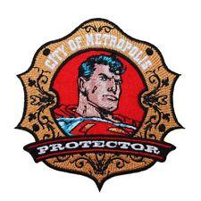 "Superman ""Metropolis Protector"" Badge Patch DC Comics Superhero Iron-On Applique"