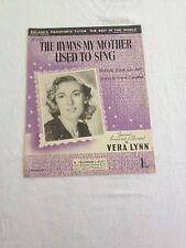 Les hymnes ma mère chantait-Sheet Music Vera Lynn