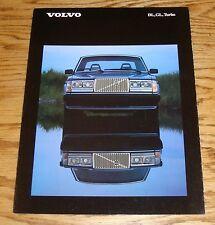 Original 1984 Volvo Full Line Foldout Sales Brochure 84 DL GL Diesel Turbo