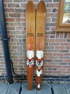 Vintage Retro Wooden Water Ski Golden Marlin Aqua Ski